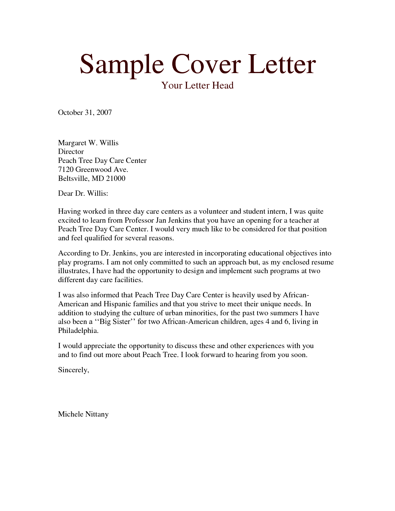 resume outline free cover letter example for teacher assistant ...