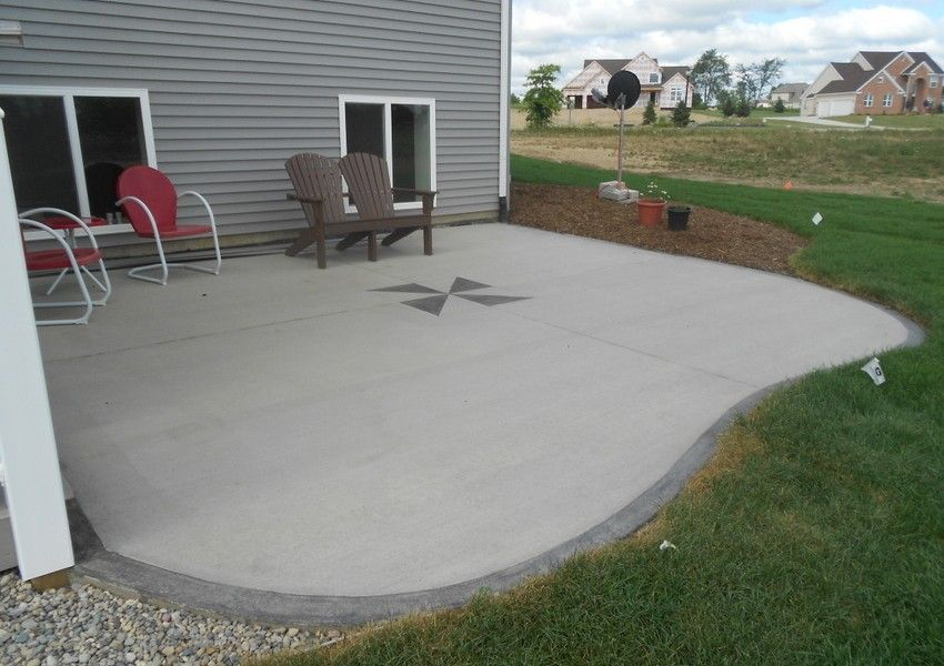 Give A Little Touch With Concrete Patio Paint Ideas To Beautify