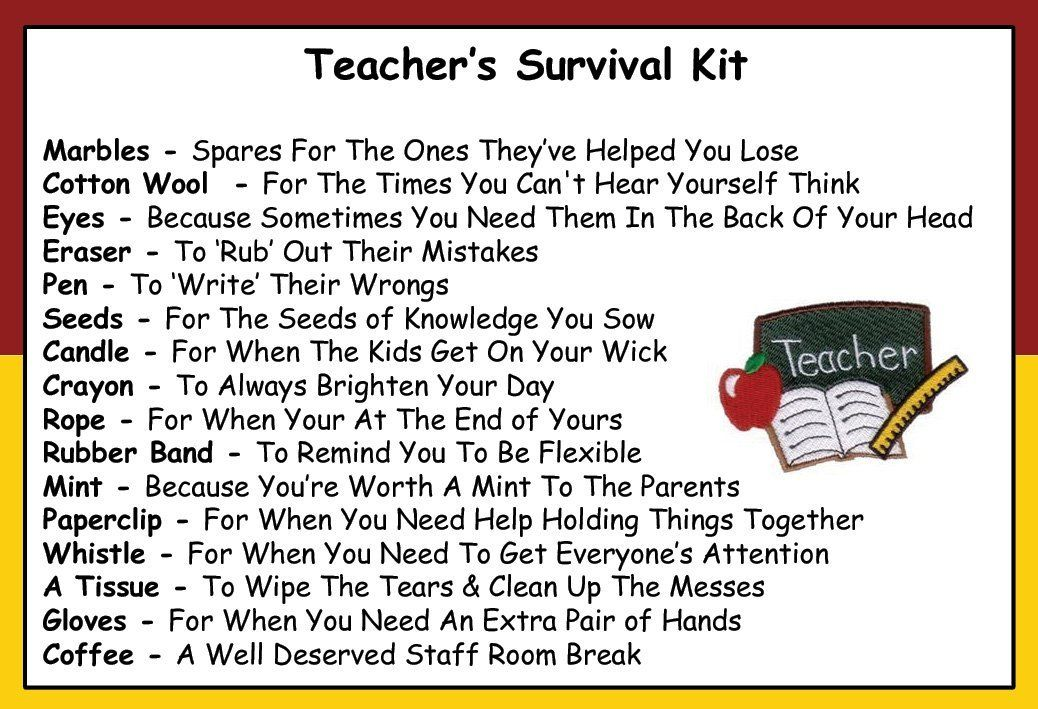 Teacher Survival Kit In A Can. Humorous Novelty Fun Gift ...