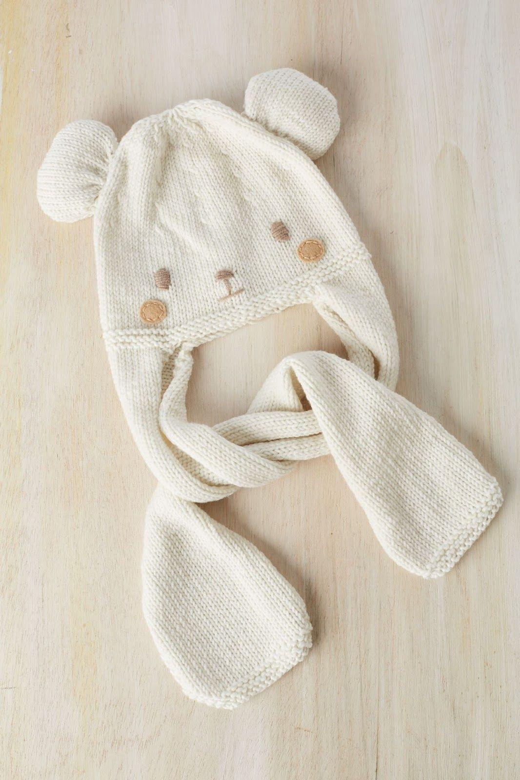 El blog de Dmc: Patrón tricot de regalo: gorro osito con Woolly ...