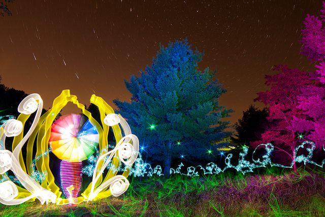 Twelve Minute Light Painting by tackyshack, via Flickr