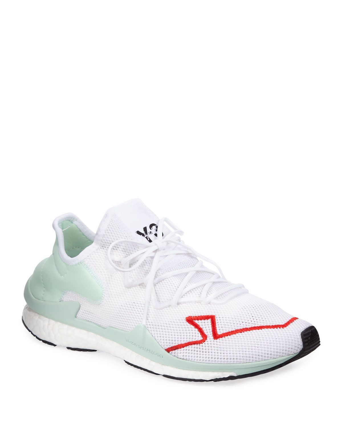 huge discount eee59 e3825 Y-3 MEN S ADIZERO LACE-UP MESH RUNNING SNEAKERS.  y-3