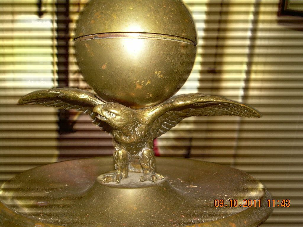 Brass Eagle Ink Well
