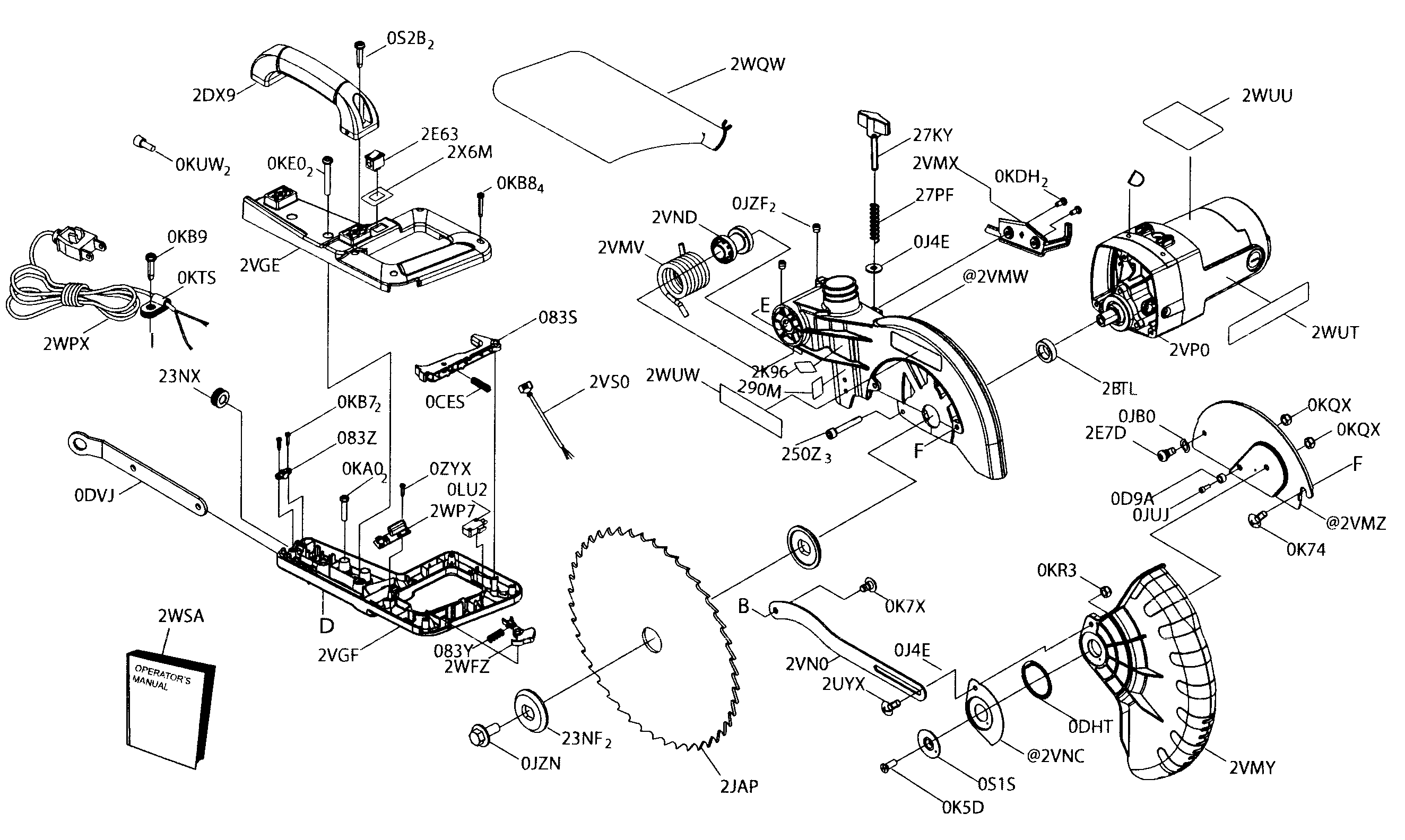 arm assy diagram parts list for model 137212371 craftsman parts saw parts searspartsdirect [ 2648 x 1584 Pixel ]