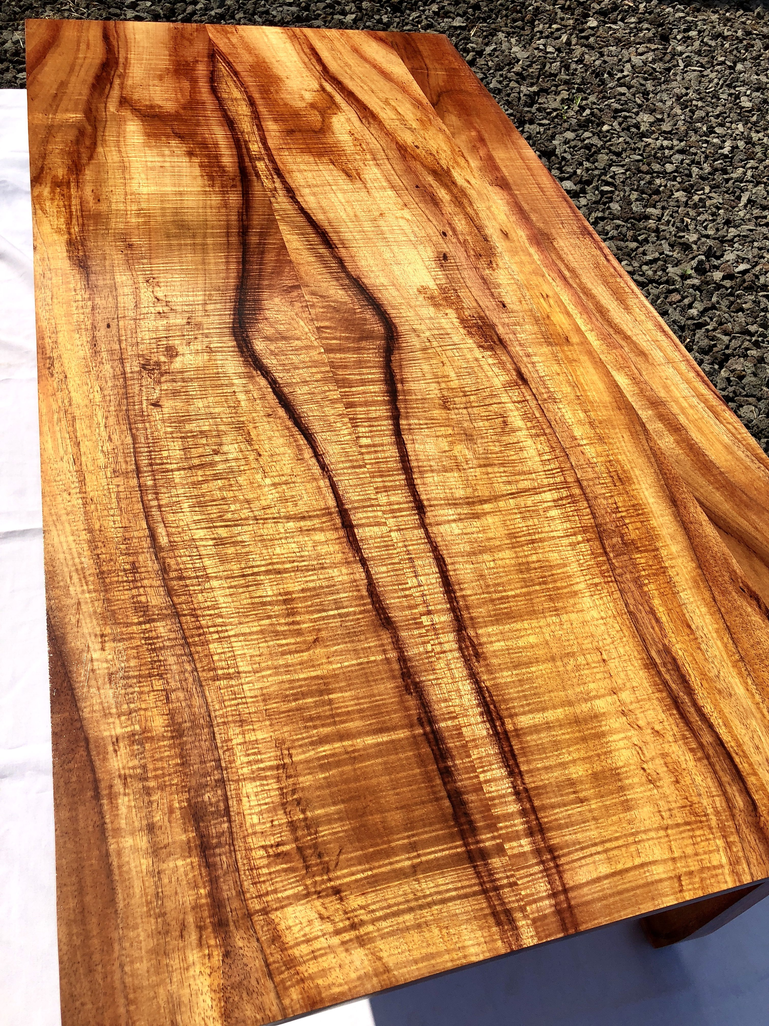 Amazing Curly Koa Wood Table Top By Lewiskoa Co Koa Wood Koa Custom Woodworking [ 4032 x 3024 Pixel ]