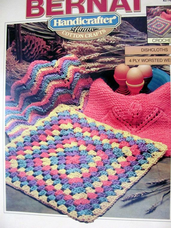 Bernat Handicrafter Dishcloths To Knit and by ...