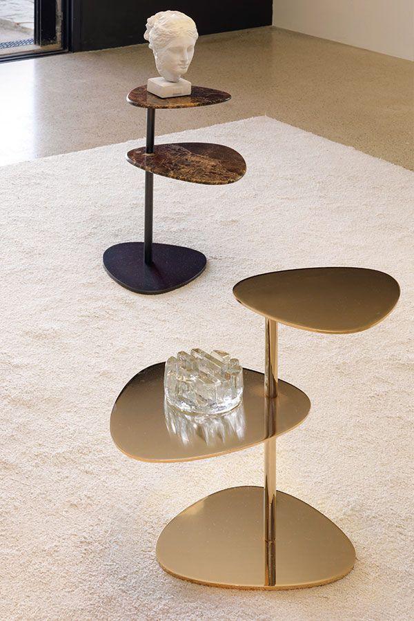 Der Niedrige Beistelltisch Inspiriert Sich An Den Zarten Bonsai Baumen Der Japanischen Tradition Er Besteht Aus Metallisch Beistelltisch Beistelltische Tisch