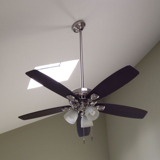 Hunter Morelli 52 Led Brushed Nickel Ceiling Fan At Menards: Downrods For Hunter Ceiling Fans