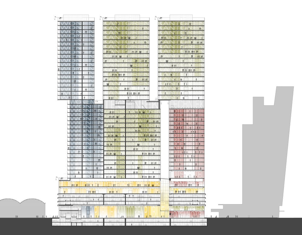 Gallery of de rotterdam oma 25 rotterdam diagram and urban design malvernweather Choice Image
