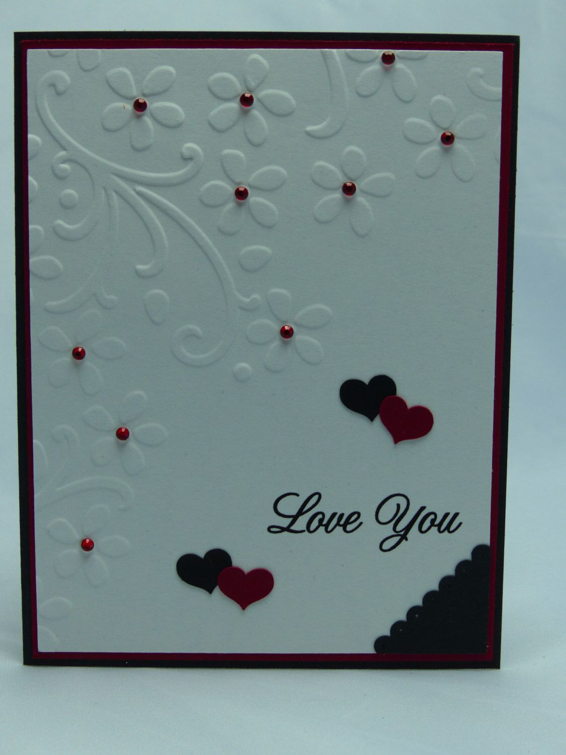 Stampin Up Handmade Greeting Card Valentines Day Card Happy