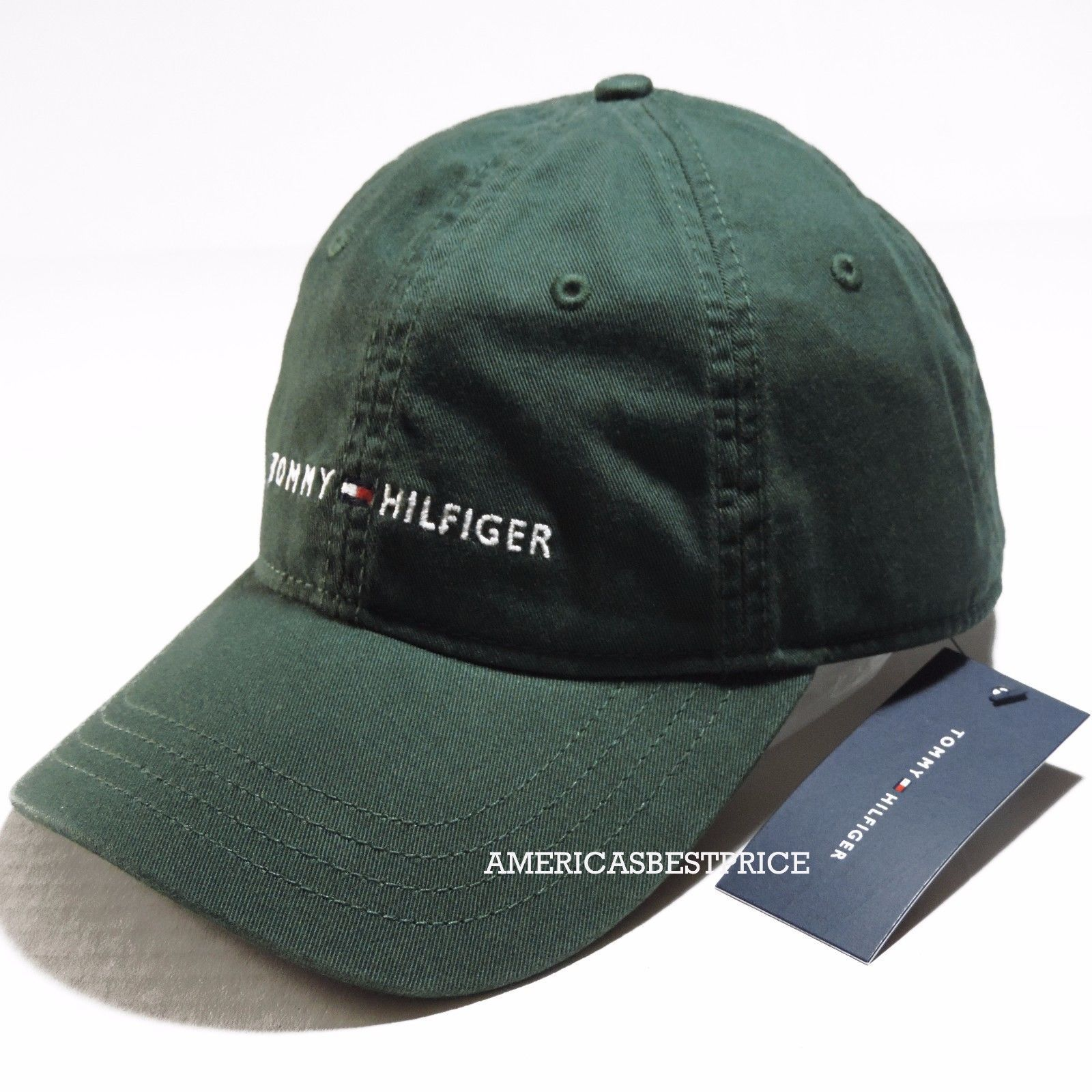 sports shoes e2ac6 0889d TOMMY HILFIGER NEW MENS BASEBALL CAP,NWT,HAT,BLACK,GREEN,BLUE