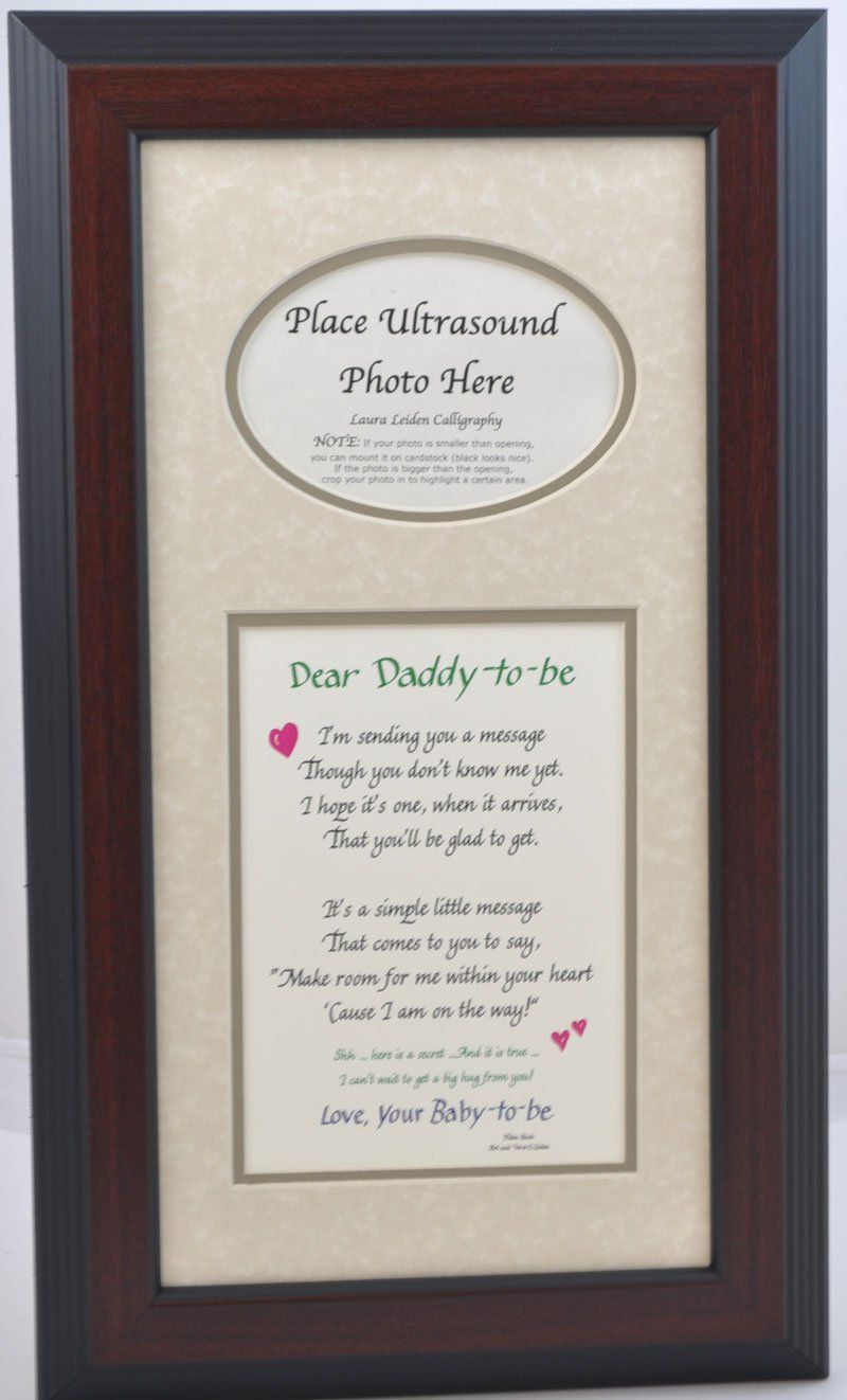 Daddy to Be Ultrasound Picture Frame 7x14 Sonogram Gift, Dad Father ...