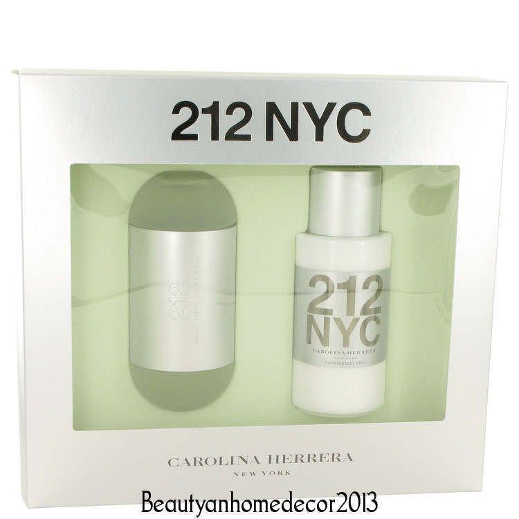 212 Gift Set Perfume by Carolina Herrera Women 3.4 oz EDT ... - photo#12
