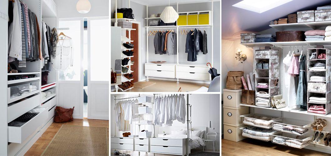 Armario ikea integrado en una habitaci n zapatos y - Armario ropa blanca ...