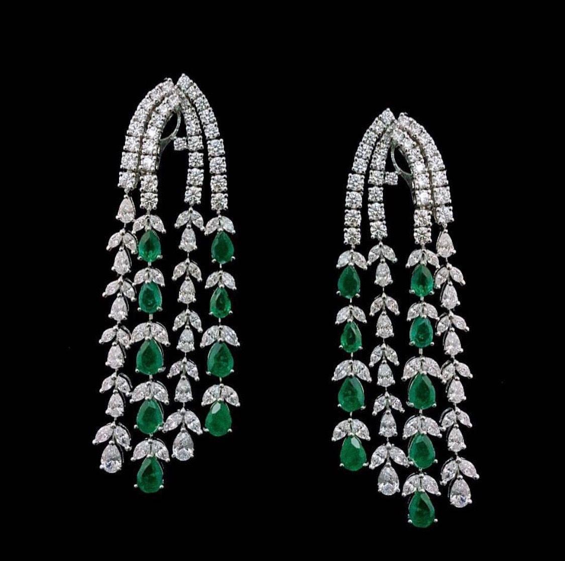 Pin By Sabina Corona On Jewelry Long Diamond Earrings Gemstone Brooch Swarovski Crystal Drop Earrings