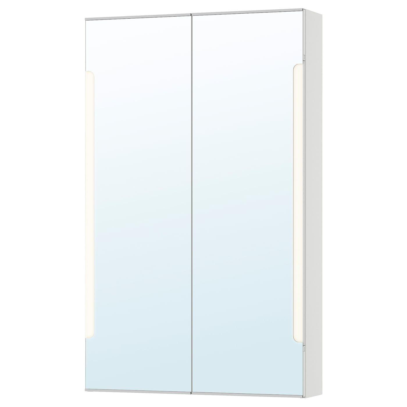 Storjorm Spejlskab 2 Lager Integreret Belys Hvid 60x14x96 Cm Ikea In 2020 Mirror Cabinets Mirror Ikea