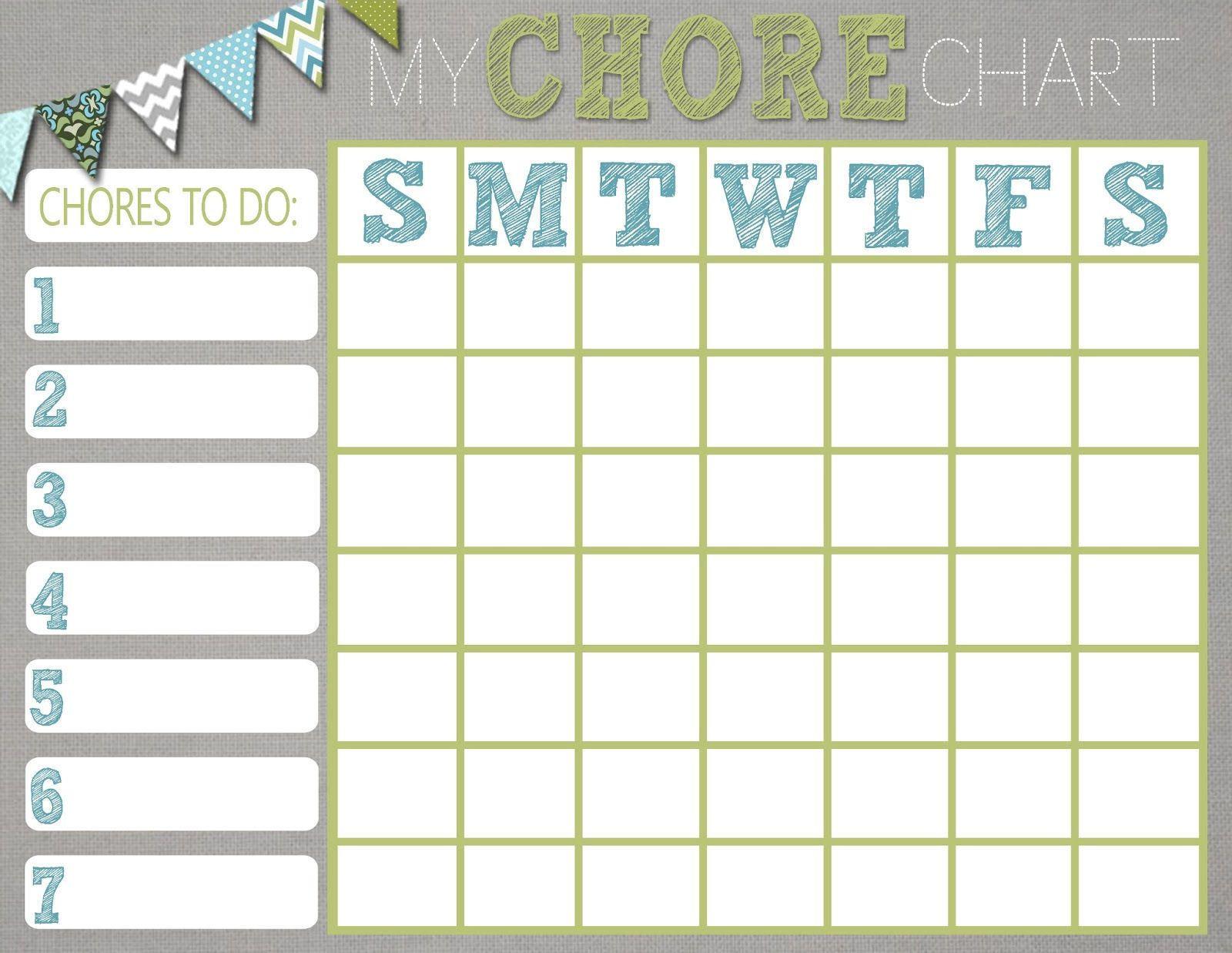 sticker chore chart template