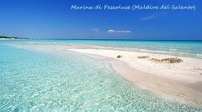 Puglia Marina di Pescoluse ( wrongly referred to Maldive