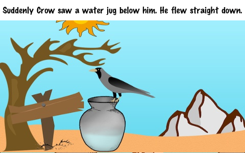 The Thirsty Crow | Parenting Page | ~ Moral Stories For Kids