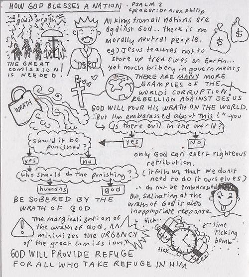 HOW GOD BLESSES A NATION: sketchnote based on sermon by Dr. Alex...