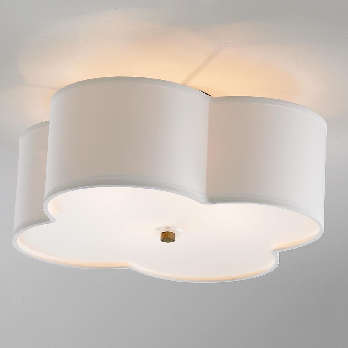Scalloped Shade SemiFlush Ceiling Light  Light Shades - Basement light fixture