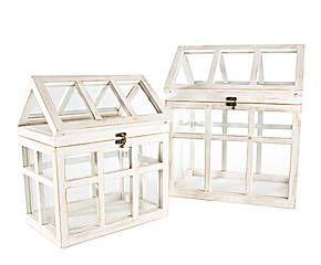 faroles de madera y vidrio Sophie I - blanco de http://www.westwing.es