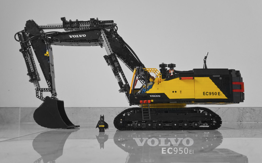 lego technic volvo ec950el excavator rc lego pinterest. Black Bedroom Furniture Sets. Home Design Ideas