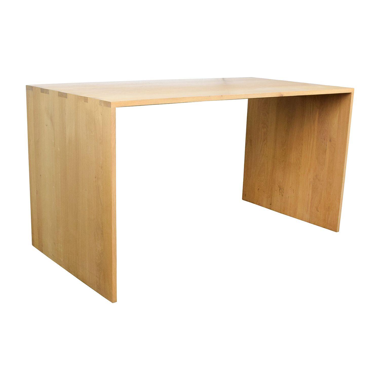 Image result for oak desk crate and barrel waterfall | Oak ...