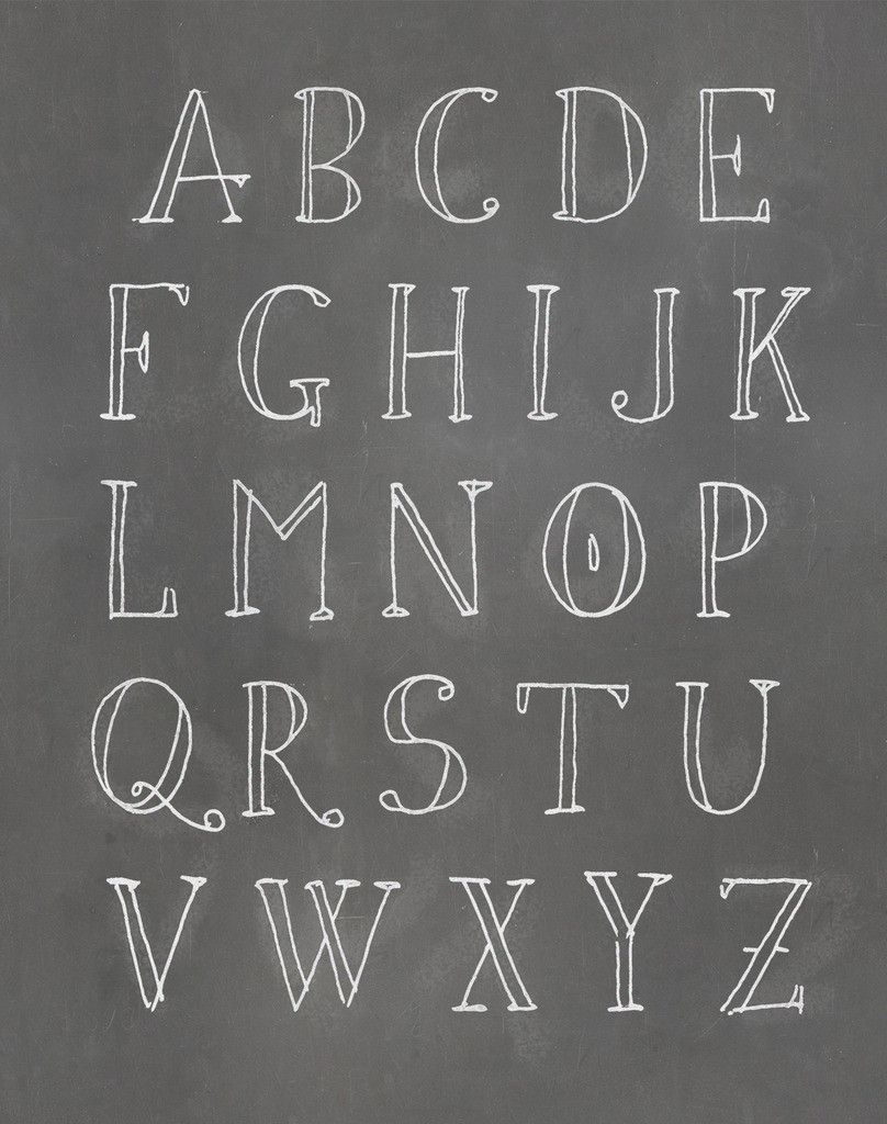 alphabet textual art paper print hand lettering. Black Bedroom Furniture Sets. Home Design Ideas