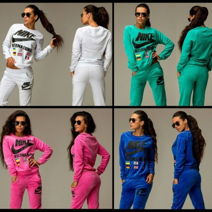 7uwk16 L C680x680 Blouse Tracksuit Jumpsuit Nike Swag Sportswear Summer Outfits Velvet Velour Sweatsuit Jpg Nike Outfits Tracksuit Women Casual Winter Outfits