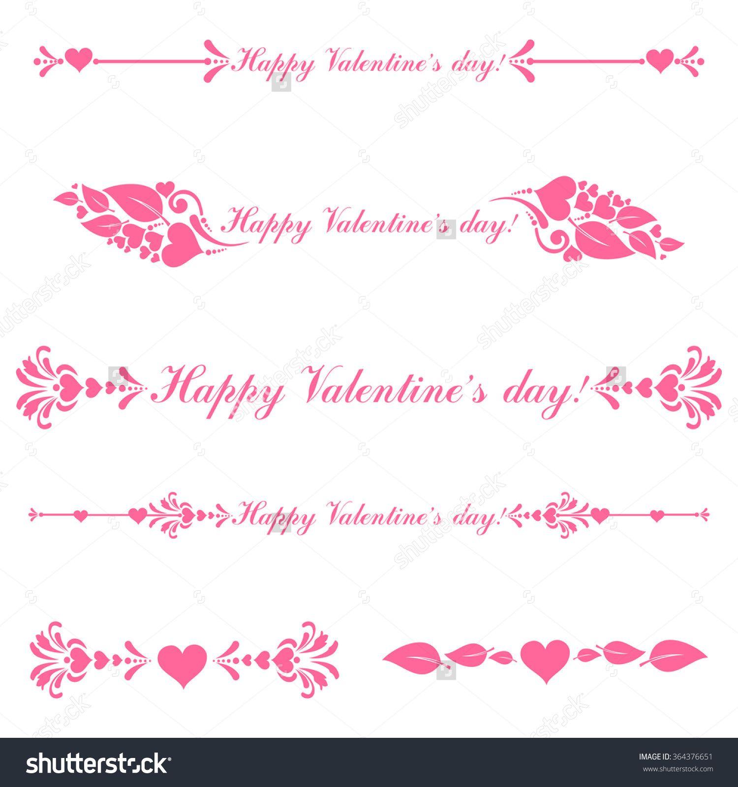 Summer beach scene vector stock vector colourbox - Vector Decorative Design Elements And Page Decor Happy Valentine Day Decor