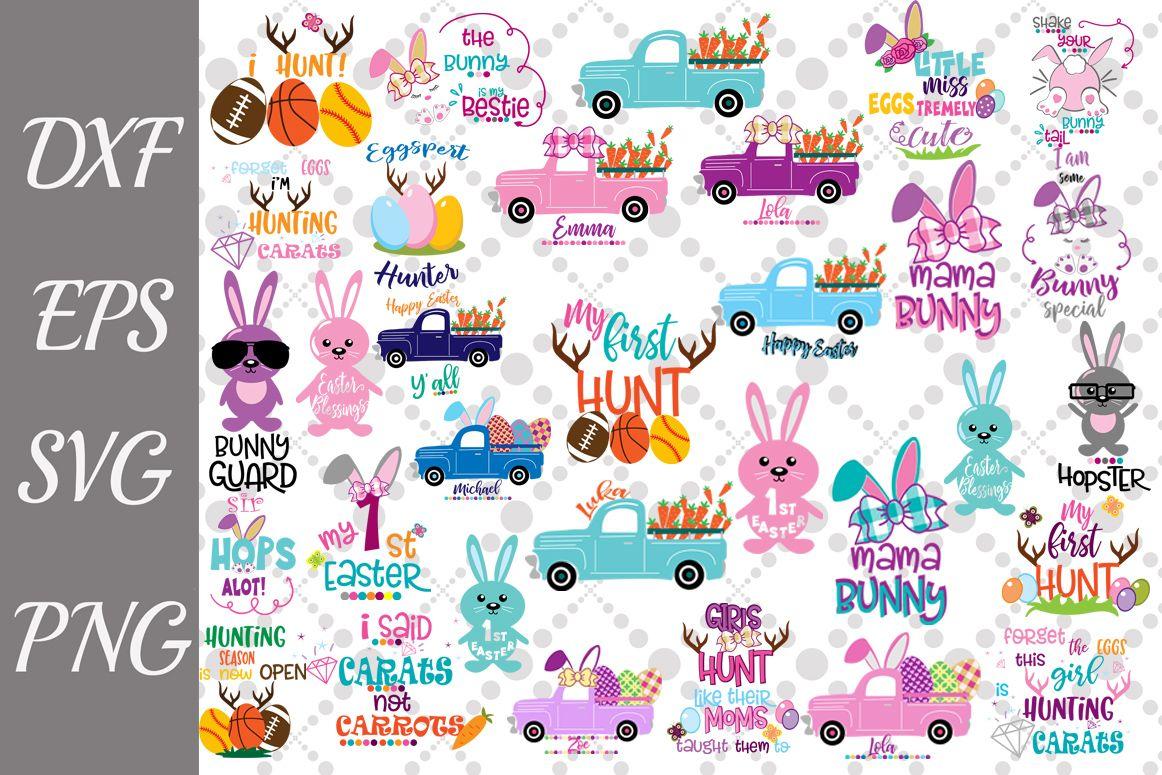 Easter Svg Bundle Easter Bundle Svg Easter Truck Svg Example Image 1 Easter Svg Easter Bundle Svg Kids