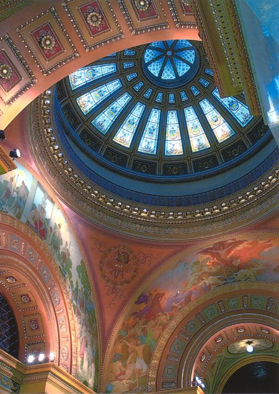 allen county courthouse fort wayne - dome detail