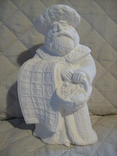 Porcelain Bisque Santa To Paint Ready To Paint Ceramic Bisque Old World German Santa Ready To Paint Ceramics Ceramic Painting Ceramic Bisque