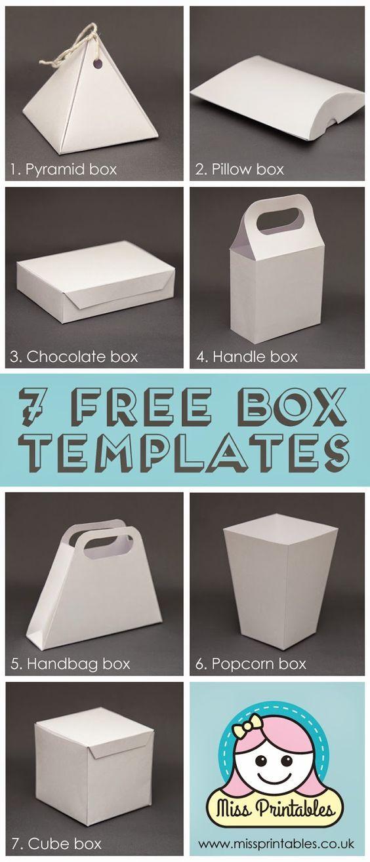 Blank Box Templates Freebie Diy Gift Box Diy Gift Wrapping Gift Box Template