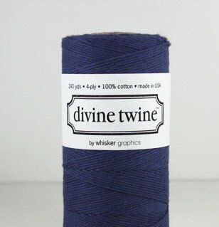 Navy Solid Divine Twine 240 yds Navy Blue by SquatsSnickerdoodles