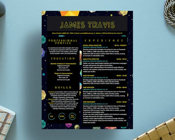 James Travis Creative Resume Template for by OriginalResumeDesign - ms word for sale