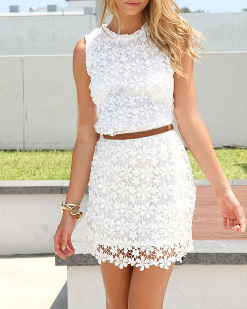 Popular Womens White Short Sleeve Dress | Outlet Value Blog