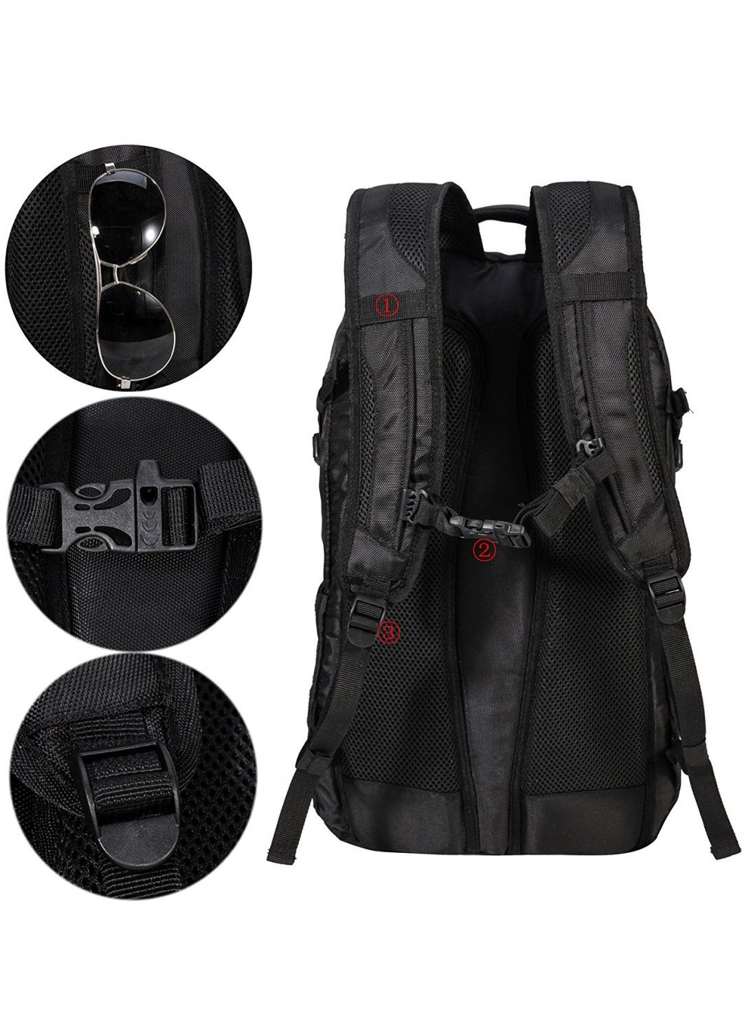 MIER Laptop Backpack Travel Daypack for Men Women School Rucksack ... 9a674a357ecf3