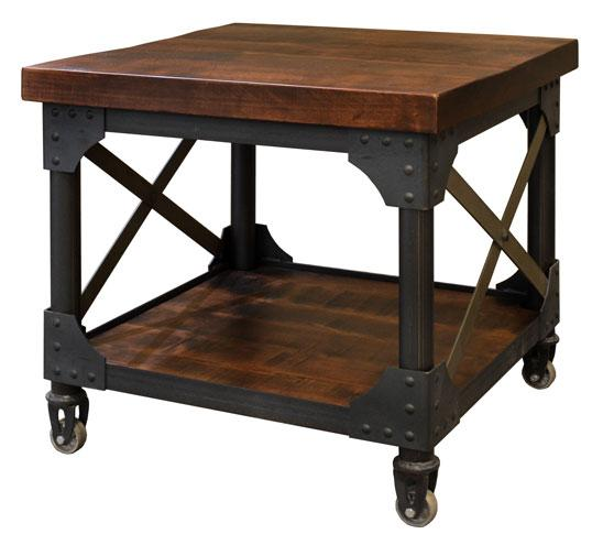 Iron Works End Table With Images End Tables Metal Furniture