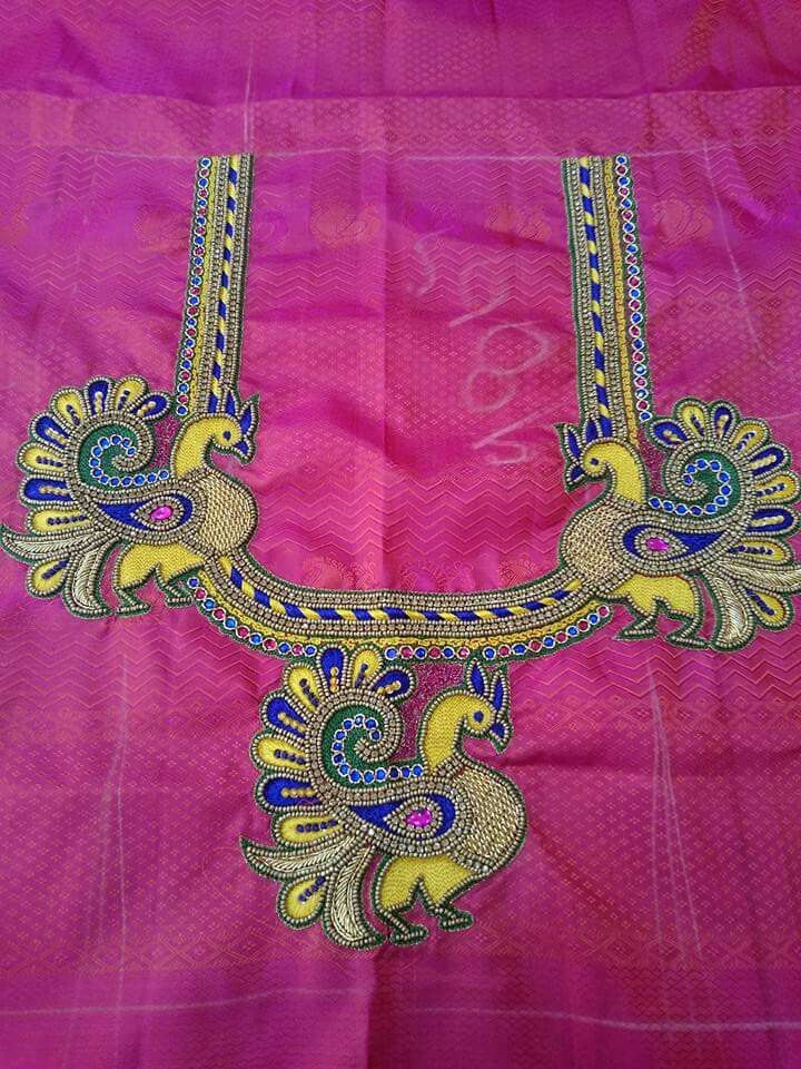 Pin By Preeti Shetty On Blouse Embroidery | Pinterest | Blouse Designs Embroidery And Saree