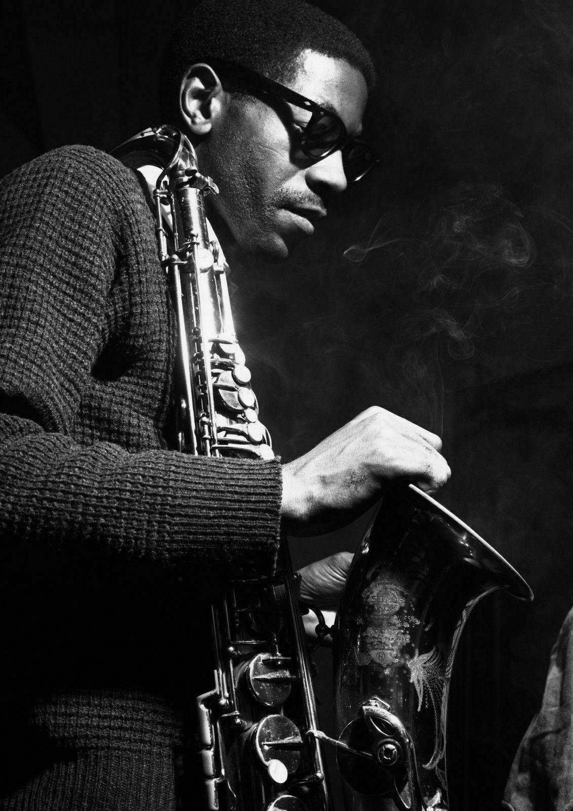 Details about Art print poster / canvas Saxophonist Joe