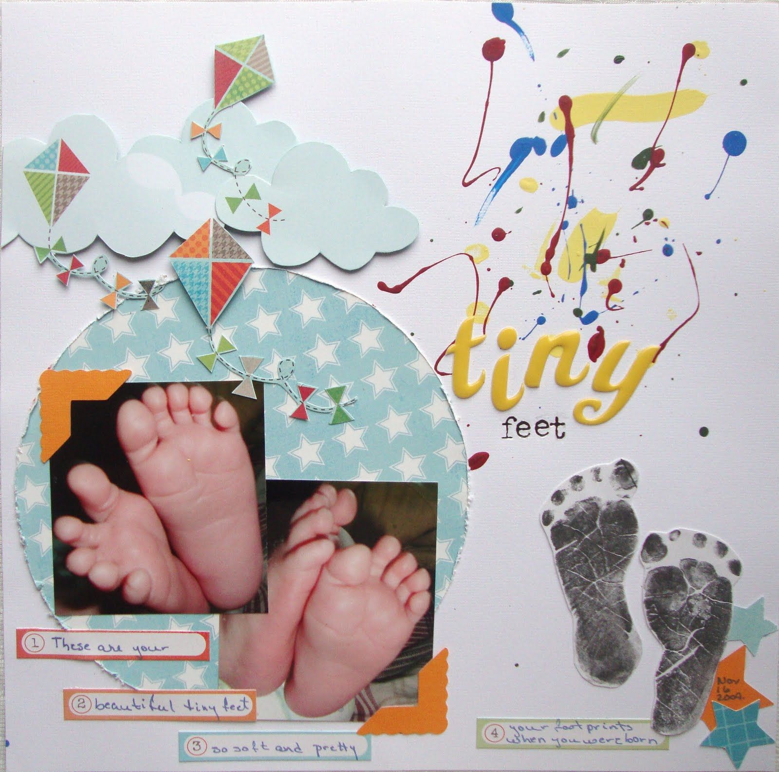 Baby scrapbook page ideas - Baby Scrapbook Pages