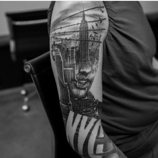 New York Tattoo Nyc Tattoo New York Tattoo Realistic Tattoo Sleeve