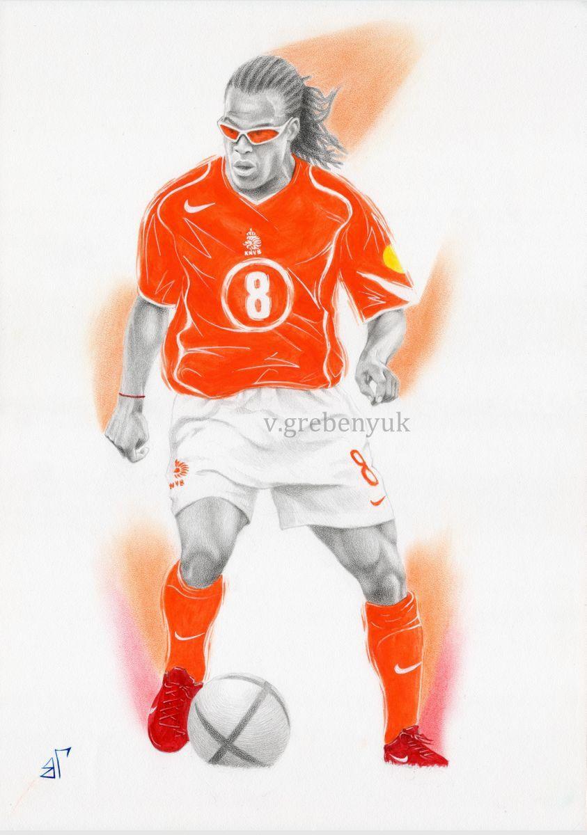 Edgar Davids 2018 Ink Drawing By Valeriy Grebenyuk In 2021 Edgar Davids Sports Drawings Drawings