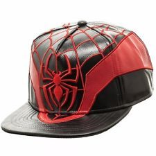 13196a48734 Spider-Man Miles Morales Marvel Comics PU Suit Up Snapback Hat