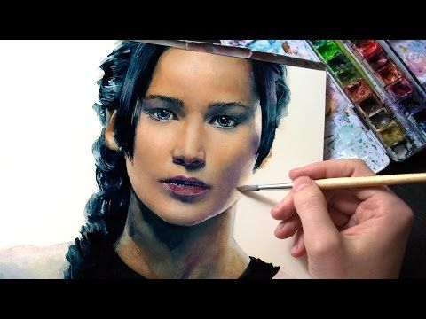 Watercolor Speedpaint Katniss Everdeen The Hanging Tree
