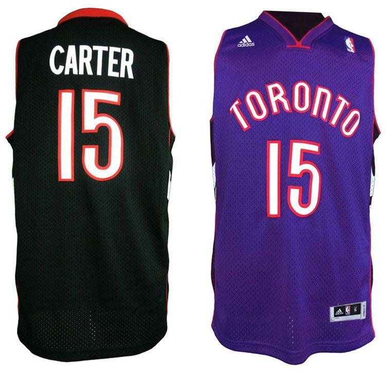 c2794f309 Toronto Raptors  15 Vince Carter Purple Black Throwback Jersey ...
