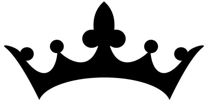Svg De Corona Princesa Corona Svg Rey Corona Svg Negro Y Dolor De