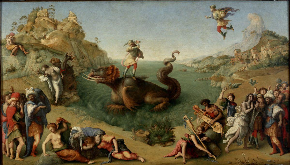 Perseo Libera Andromeda Piero Di Cosimo Year 1510 1513 Style Rinascimento Techics Olio Su Ta Producción Artística Pinturas Sorprendentes Arte Renacentista